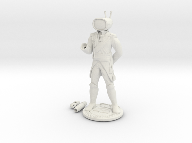 Prince Robot IV in White Natural Versatile Plastic