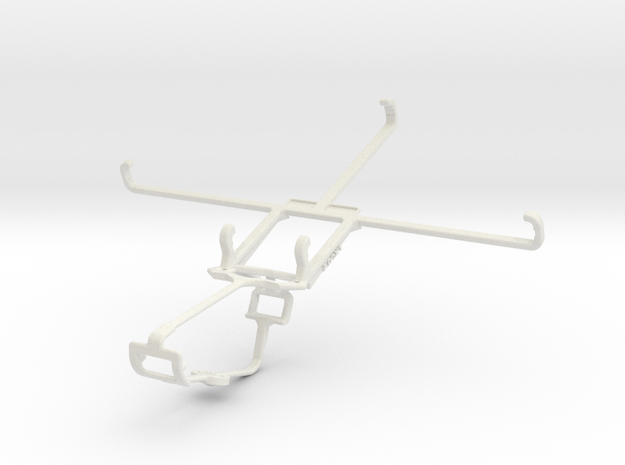 Controller mount for Xbox One & Samsung Galaxy Tab in White Natural Versatile Plastic