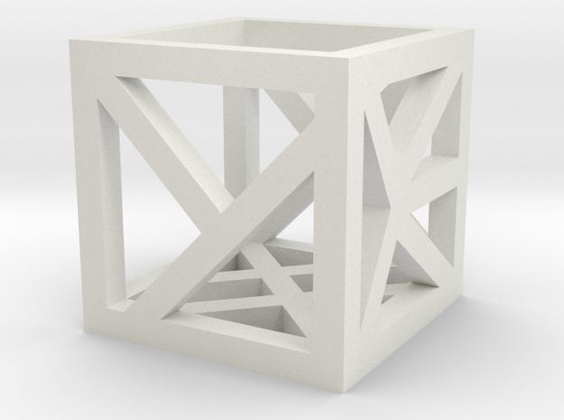 D6 Inset Hollow 1 in White Natural Versatile Plastic