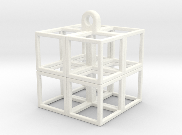 CubeCube in White Strong & Flexible Polished
