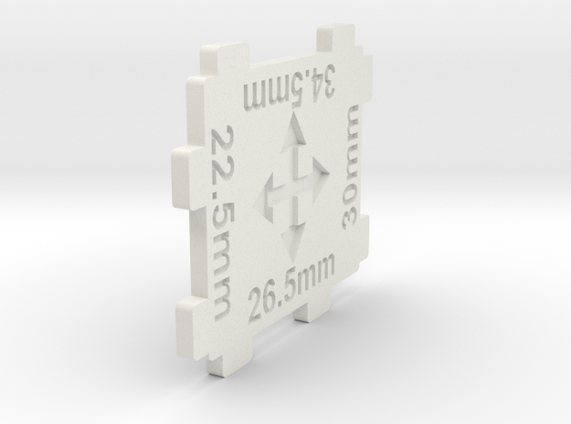 N gauge 4 Way Track Spacer 1:160 scale in White Natural Versatile Plastic