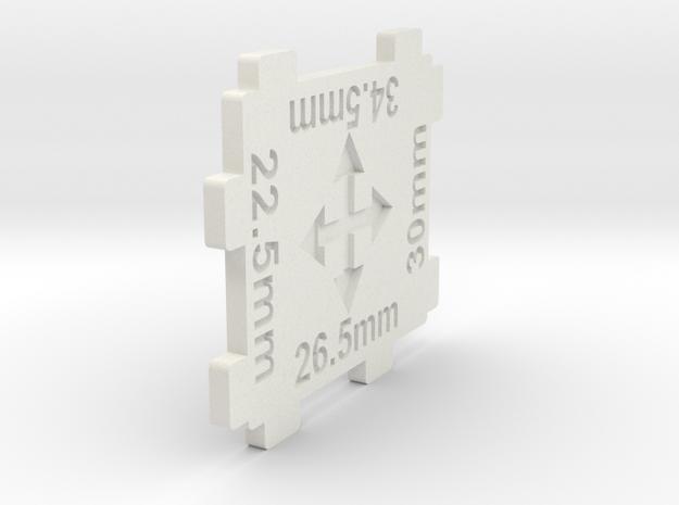N gauge 4 Way Track Spacer 1:160 scale in White Natural Versatile Plastic