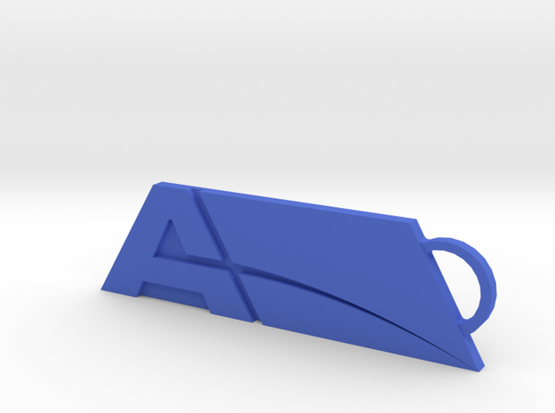 Alternate Andromeda Keychain in Blue Strong & Flexible Polished