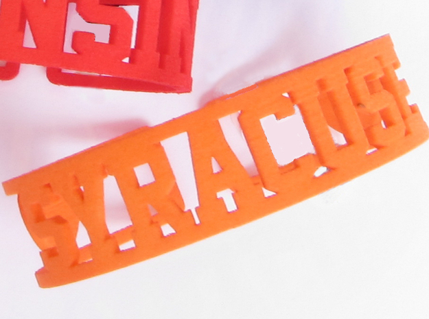 Syracuse Cuff in Orange Processed Versatile Plastic