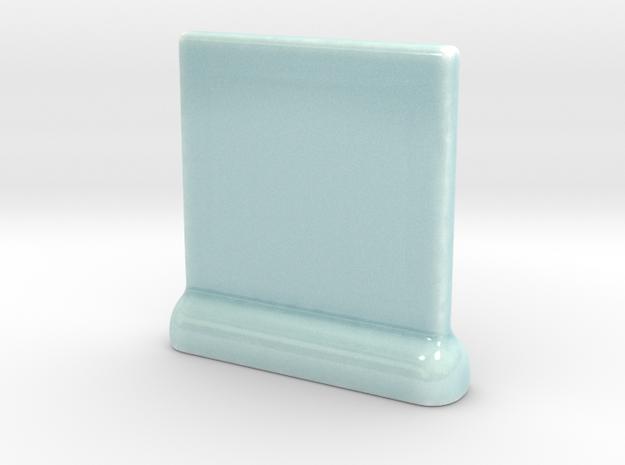 Celadon Selfie Standing Picture Frame 4x4 in Gloss Celadon Green Porcelain