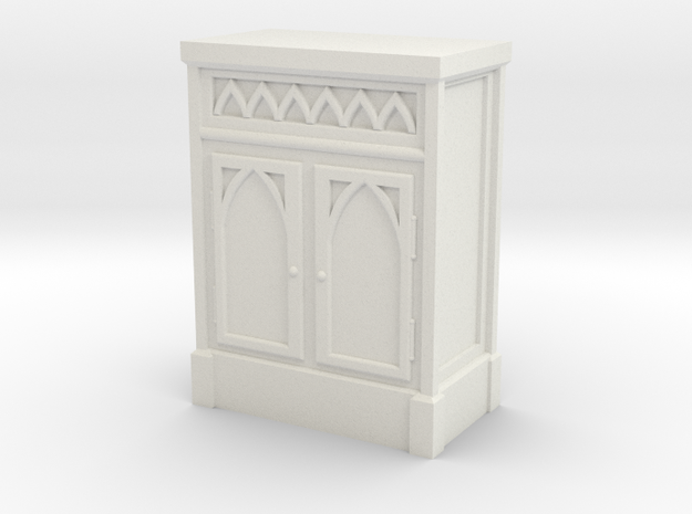 Gothic Cabinet  in White Natural Versatile Plastic: 1:48 - O
