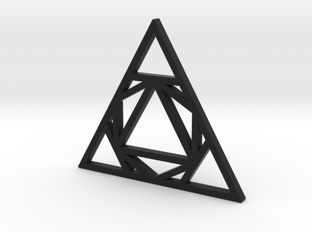 Sacred Tribe Triangle Pendant in Black Natural Versatile Plastic