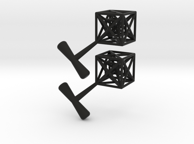 Hypercube Cuff Links