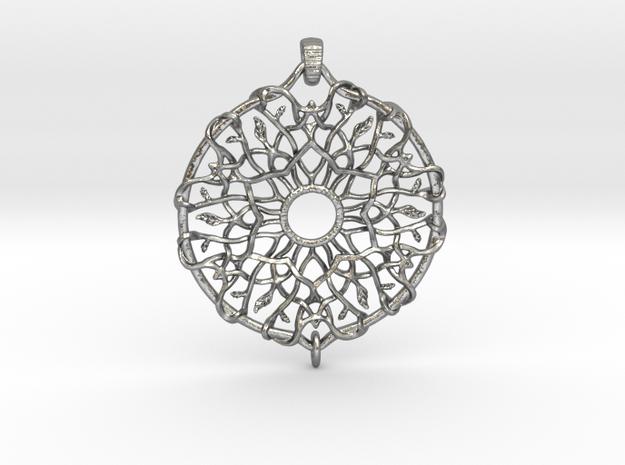 Dreamcatcher in Interlocking Raw Silver