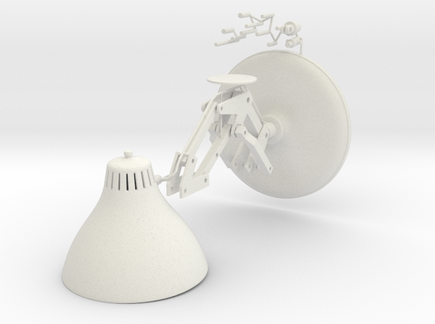 Pixar Lamp Antoons in White Natural Versatile Plastic: Medium