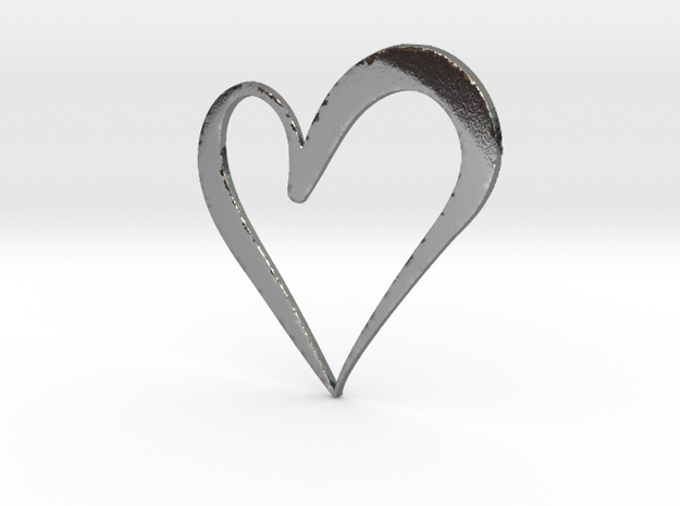 Big Heart in Polished Silver