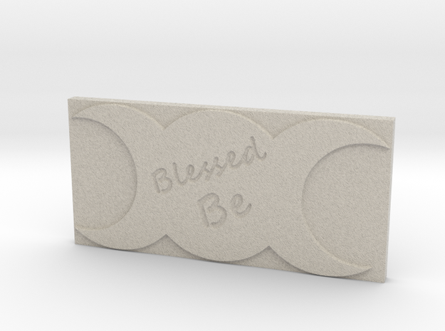 Triple Moon Blessed Be Tile by ~M. in Sandstone
