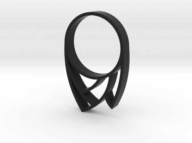 Punk Ring in Black Natural Versatile Plastic