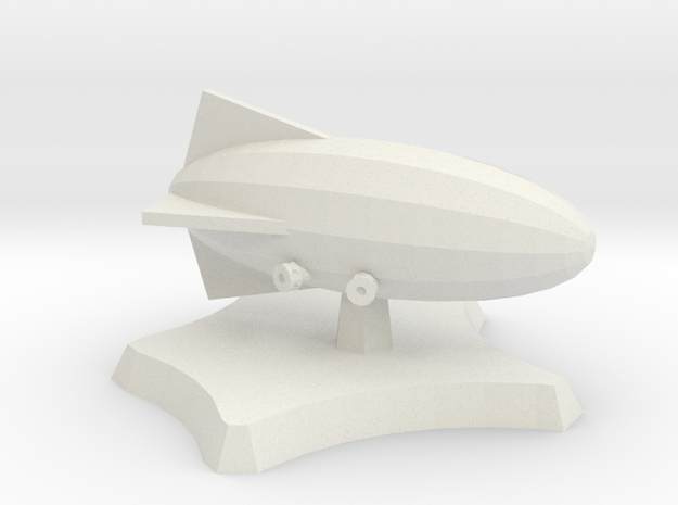 Frigate airship in White Natural Versatile Plastic
