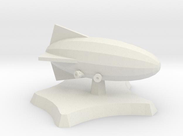 Frigate airship in White Natural Versatile Plastic