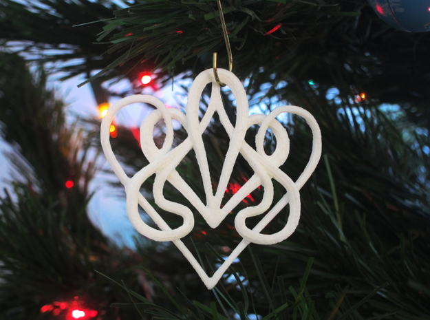 Christmas Ornament Deco Heart 3d printed