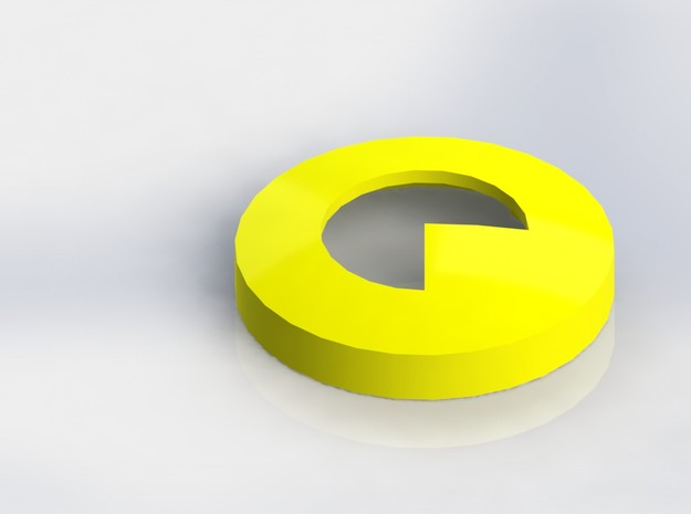 Pacman Ear Bud Cover for GLASS in White Natural Versatile Plastic