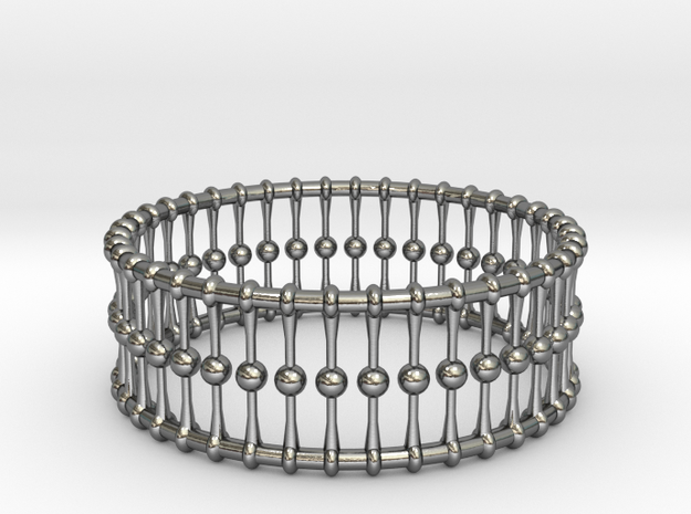 Bracelet Cones Balls And Rings 3 In Dia in Polished Silver