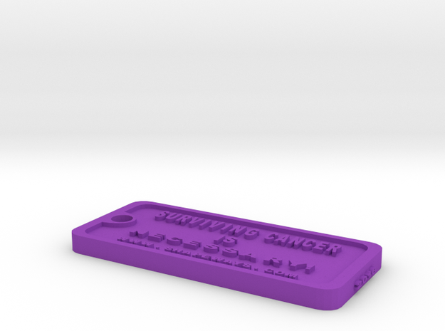 Tag-2-cw in Purple Processed Versatile Plastic