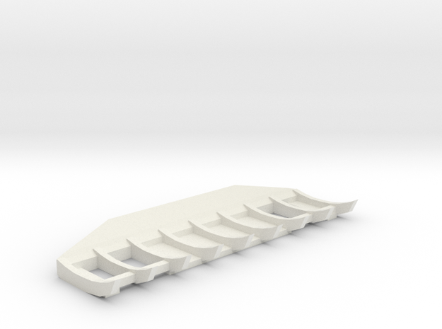1/50 Cat D8 Angle Rake in White Strong & Flexible