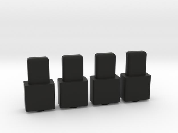 Swiss Arms Uzi - Spring Guide Magazine 4x in Black Natural Versatile Plastic
