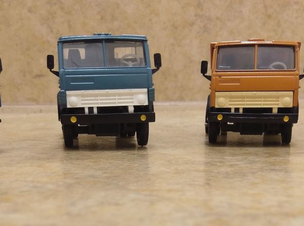 Old Soviet Russian Kamaz 1-43 Model Mirrors in White Strong & Flexible