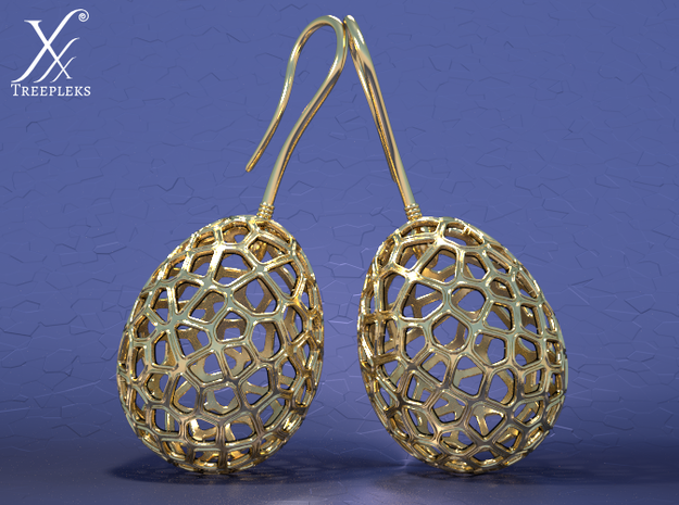 Fertilized Bio-inspired Zerggrings in Polished Brass
