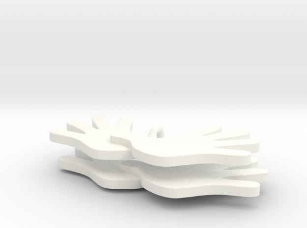 Dagsværk øreringe 3d printed