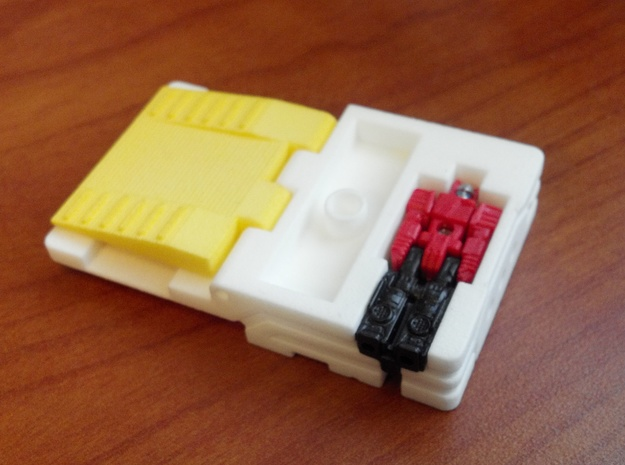 Ramp Storage Tablet for TR Blaster/Soundwave in White Processed Versatile Plastic