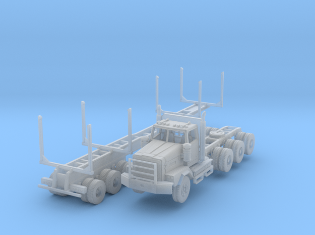 WS 4900XD Tri-Axle Logger N Scale in Smoothest Fine Detail Plastic
