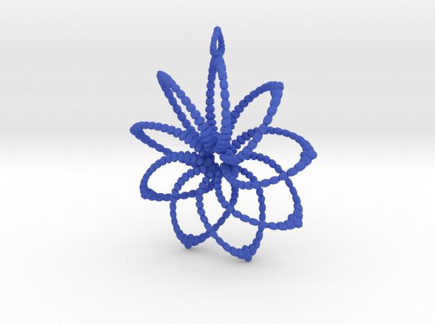 Cluster Funk 9 Points - 5cm, Loopet in Blue Processed Versatile Plastic