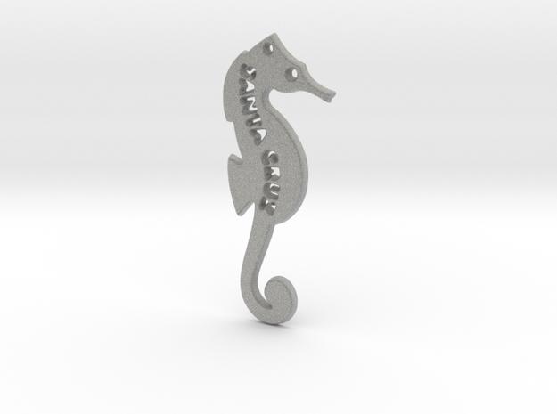 Santa Cruz Seahorse Pendant in Metallic Plastic