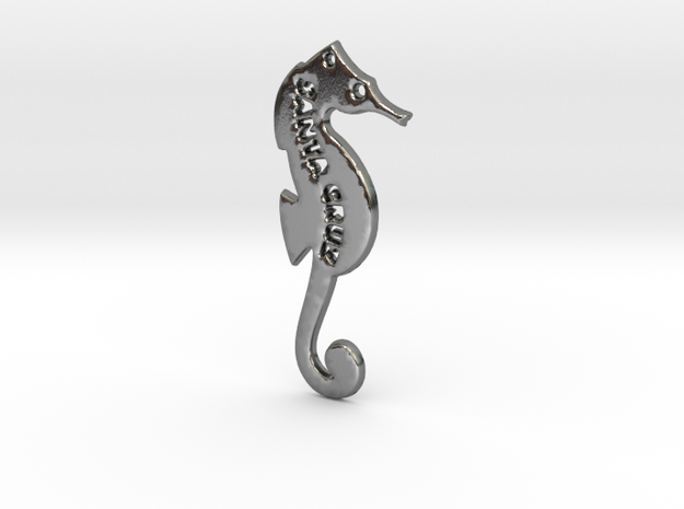 Santa Cruz Seahorse Pendant in Polished Silver