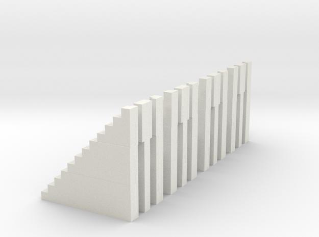 Bleachers N Scale 12 Risers in White Strong & Flexible