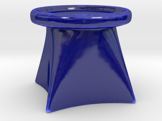 Candle Holder G in Gloss Cobalt Blue Porcelain