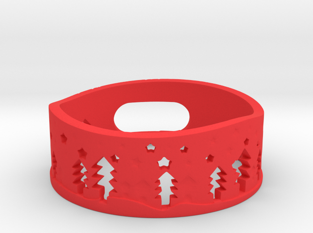 Amazon Dot Christmas Case in Red Strong & Flexible Polished