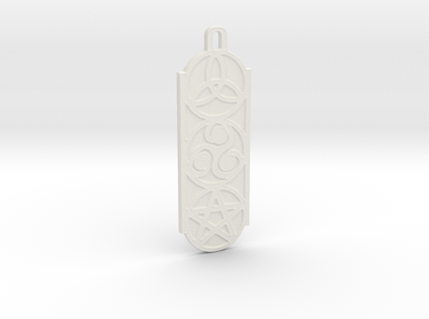 Symbols 2 by ~M. Keychain in White Natural Versatile Plastic