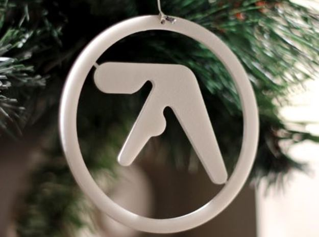 Aphex Twin Ornament in White Strong & Flexible