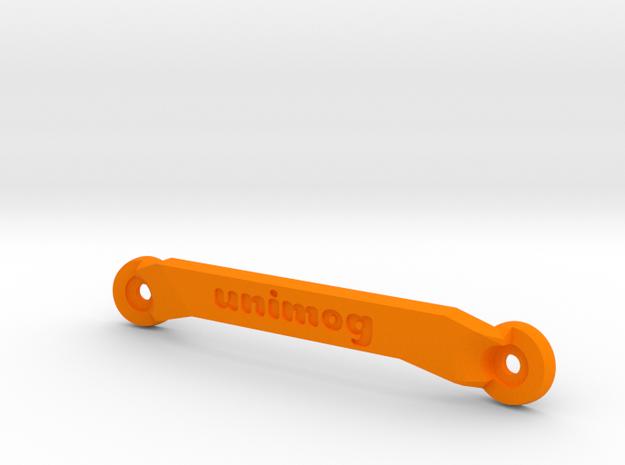 CW01 Chassis Brace - Front - Unimog in Orange Processed Versatile Plastic