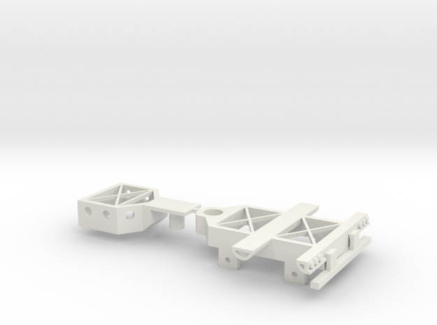 Booster Dolly Only; 2-Axle in White Natural Versatile Plastic