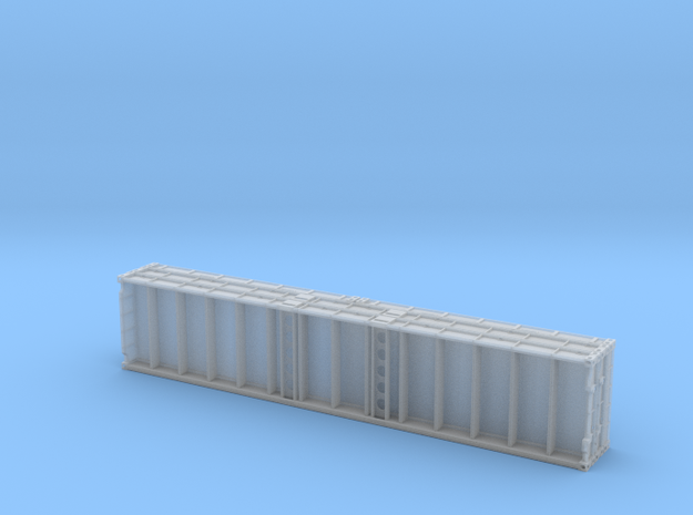 1:87 Plattform Container 2x 20ft + 2x 40ft in Smooth Fine Detail Plastic
