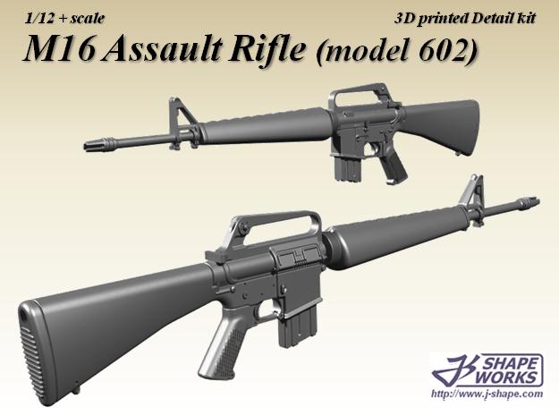 1/12 M16 Assault rifle (modle 602) in Smoothest Fine Detail Plastic