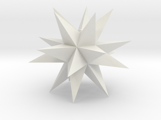 Spikey Stellation 3.6 in White Strong & Flexible