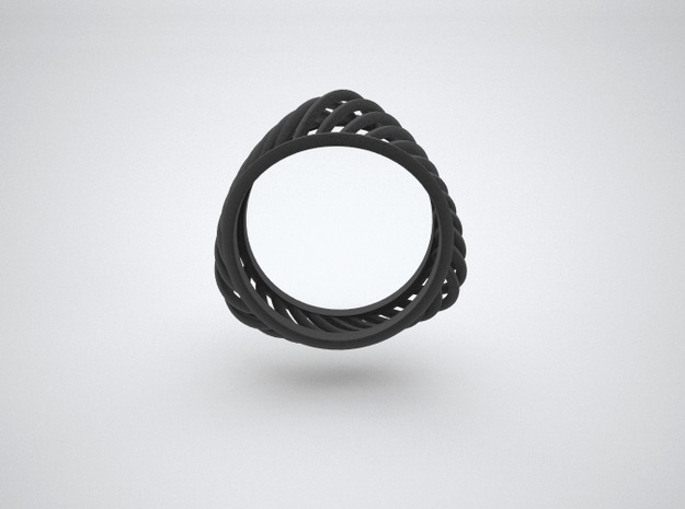 Triangular Rail Arcs Ring - Size 6.75 3d printed Render image