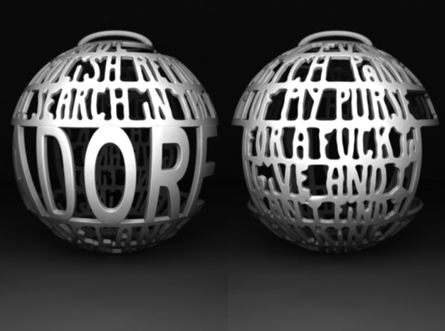 Adore Quotaball in White Strong & Flexible Polished