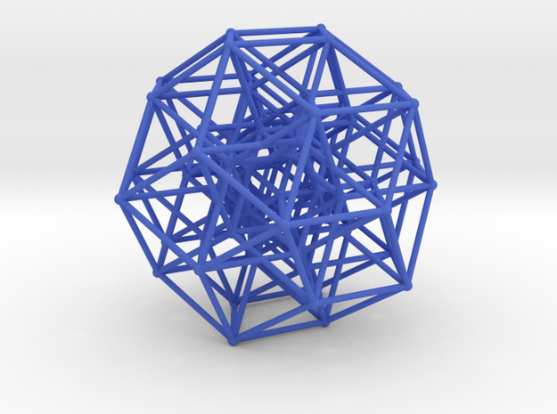 Six Dimensional Cube in Blue Strong & Flexible Polished