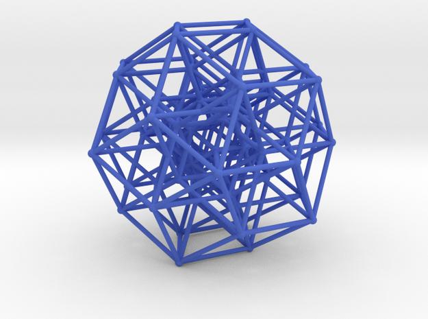Six Dimensional Cube in Blue Processed Versatile Plastic