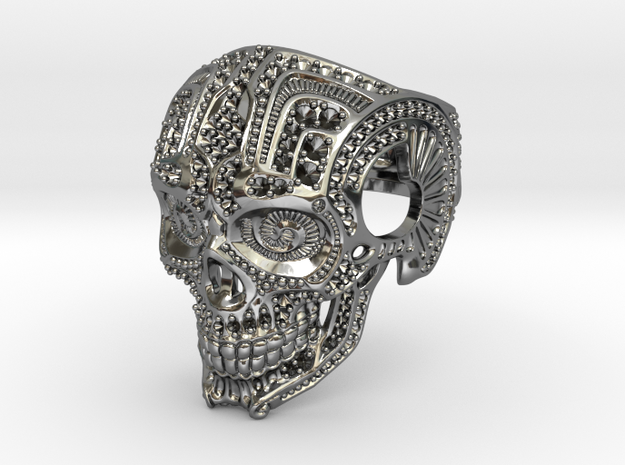 Skull with settings in Premium Silver