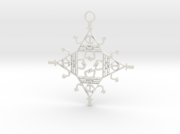 Bill Cipher Bauble in White Strong & Flexible