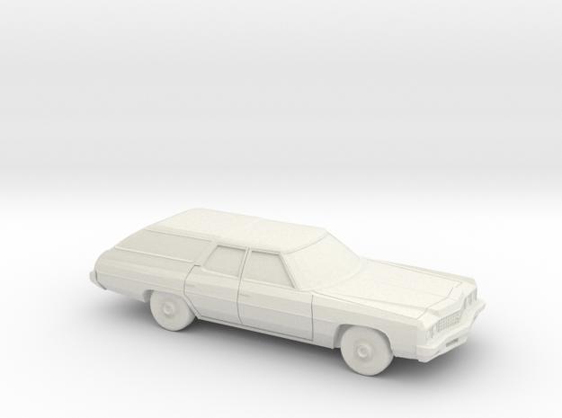 1/87 1973 Chevrolet Impala Station Wagon in White Natural Versatile Plastic